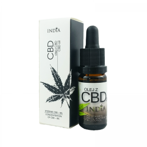 India Cosmetics - Olej Konopny z CBD 5% 10ml Bio