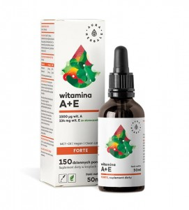 Aura Herbals - Witamina A + E Forte MCT-Oil - Krople 50ml